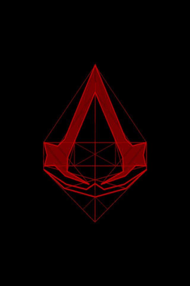 Assasins Creed Line Logo Parallax Hd Iphone Ipad Wallpaper In 2020 Assasins Creed Assassin S Creed Wallpaper