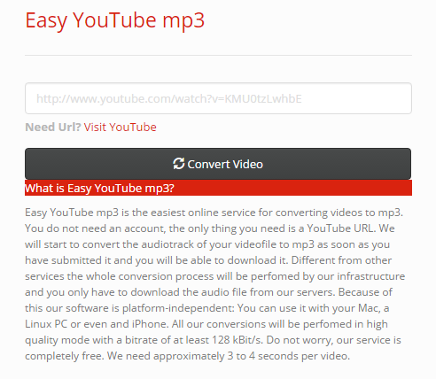 Youtube mp3 easy