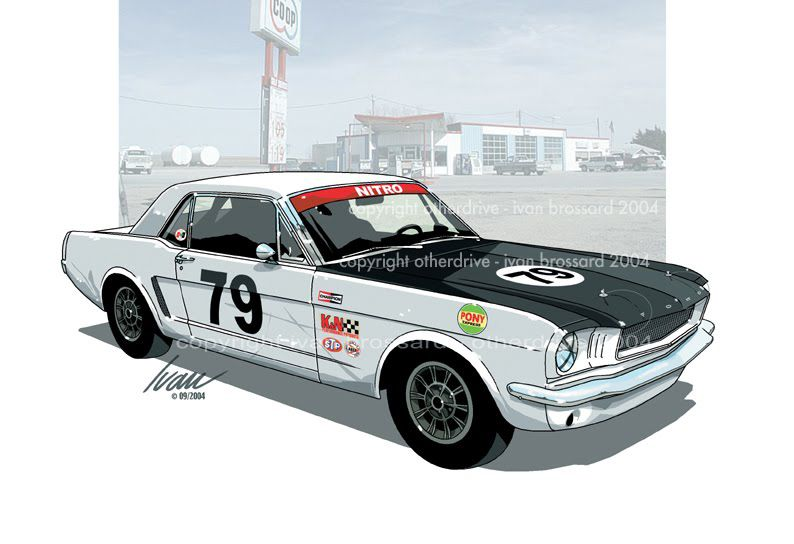 Ford Mustang 65 racing