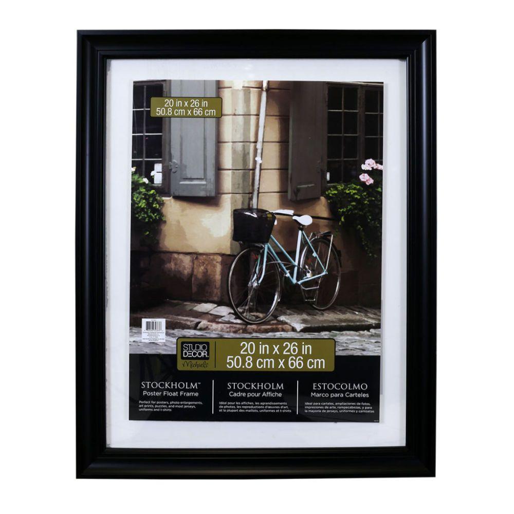 Black 20 X 26 Float Poster Frame Stockholm By Studio Decor Studio Decor Poster Frame Picture Frame Sizes