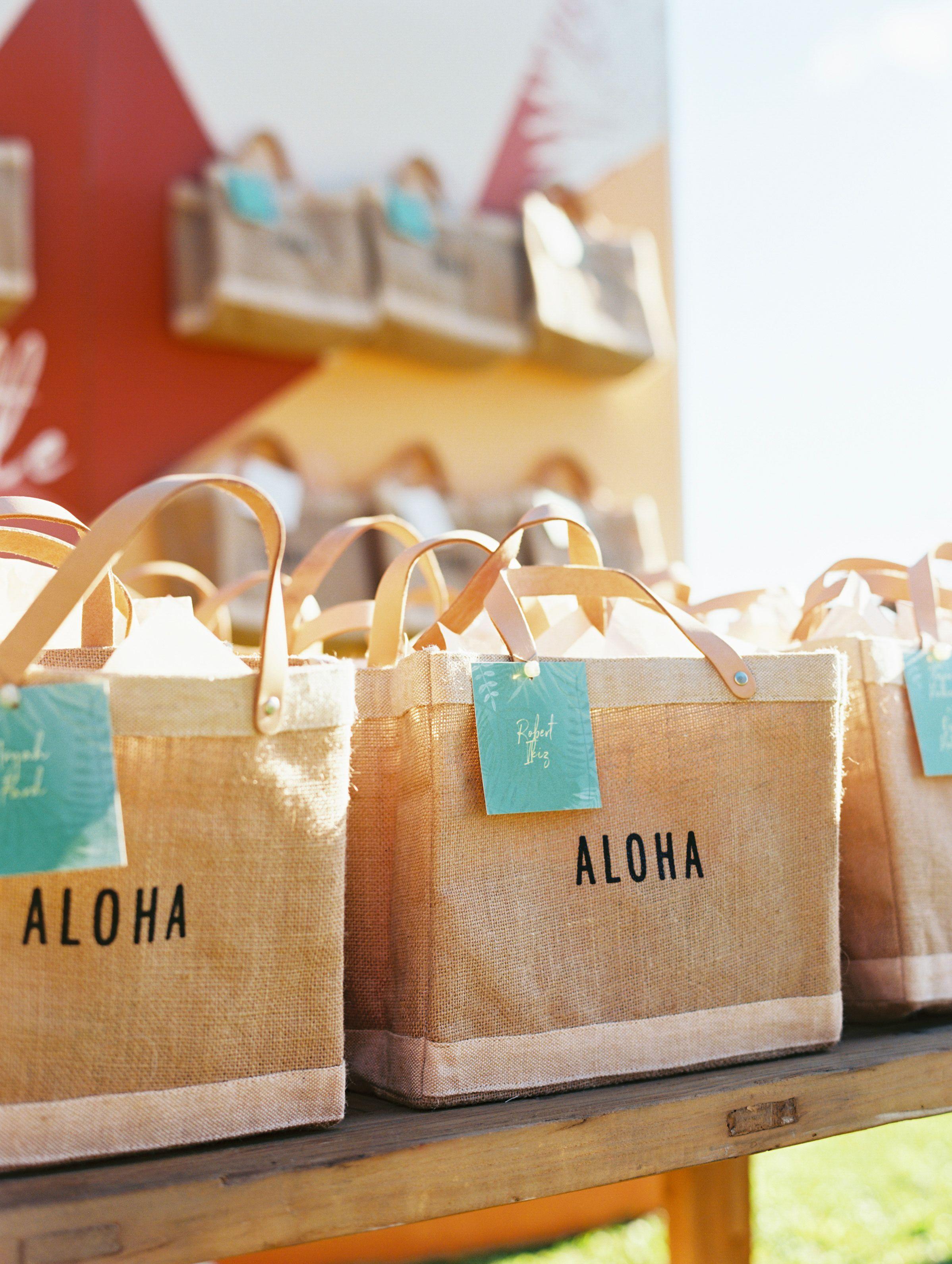 Destination bags guest favors bohochic