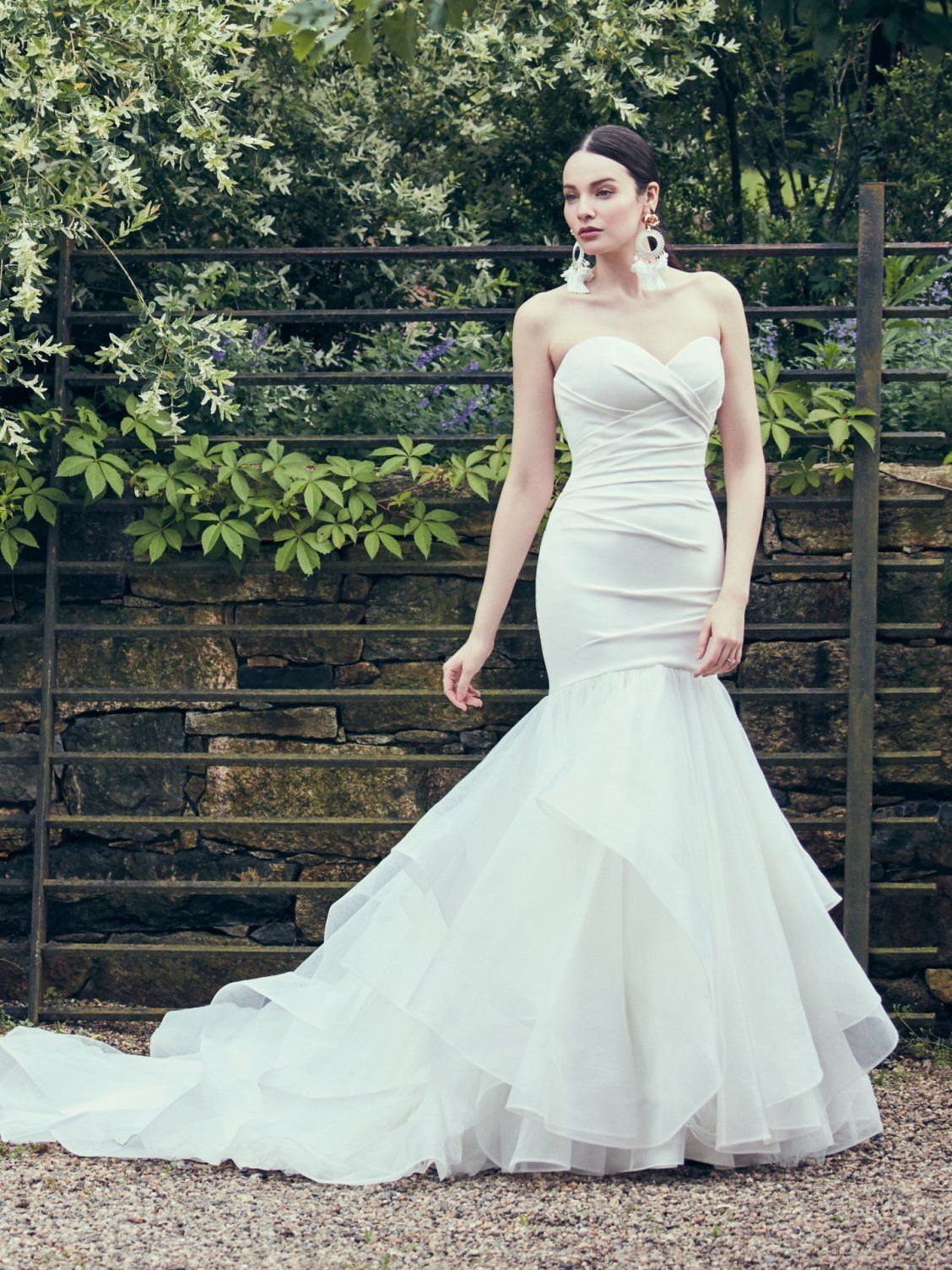 814613a93bcf0 Maggie Sottero - JACQUELINE, This chic fit-and-flare wedding dress features  a