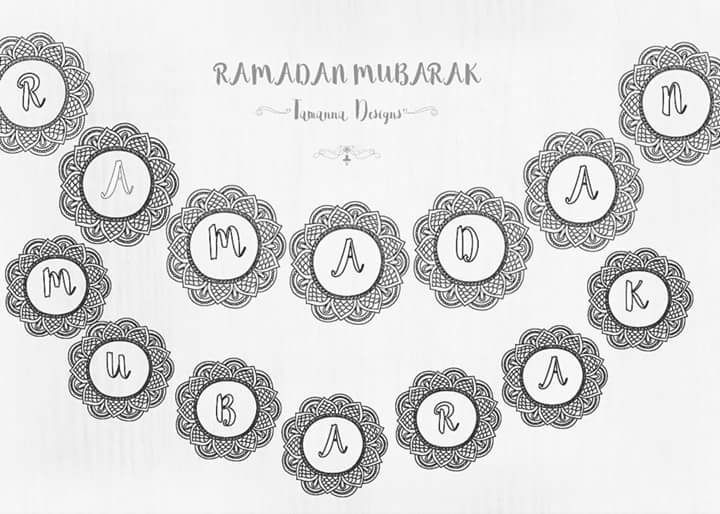 free ramadan printable banner in 2018 ramadan pinterest