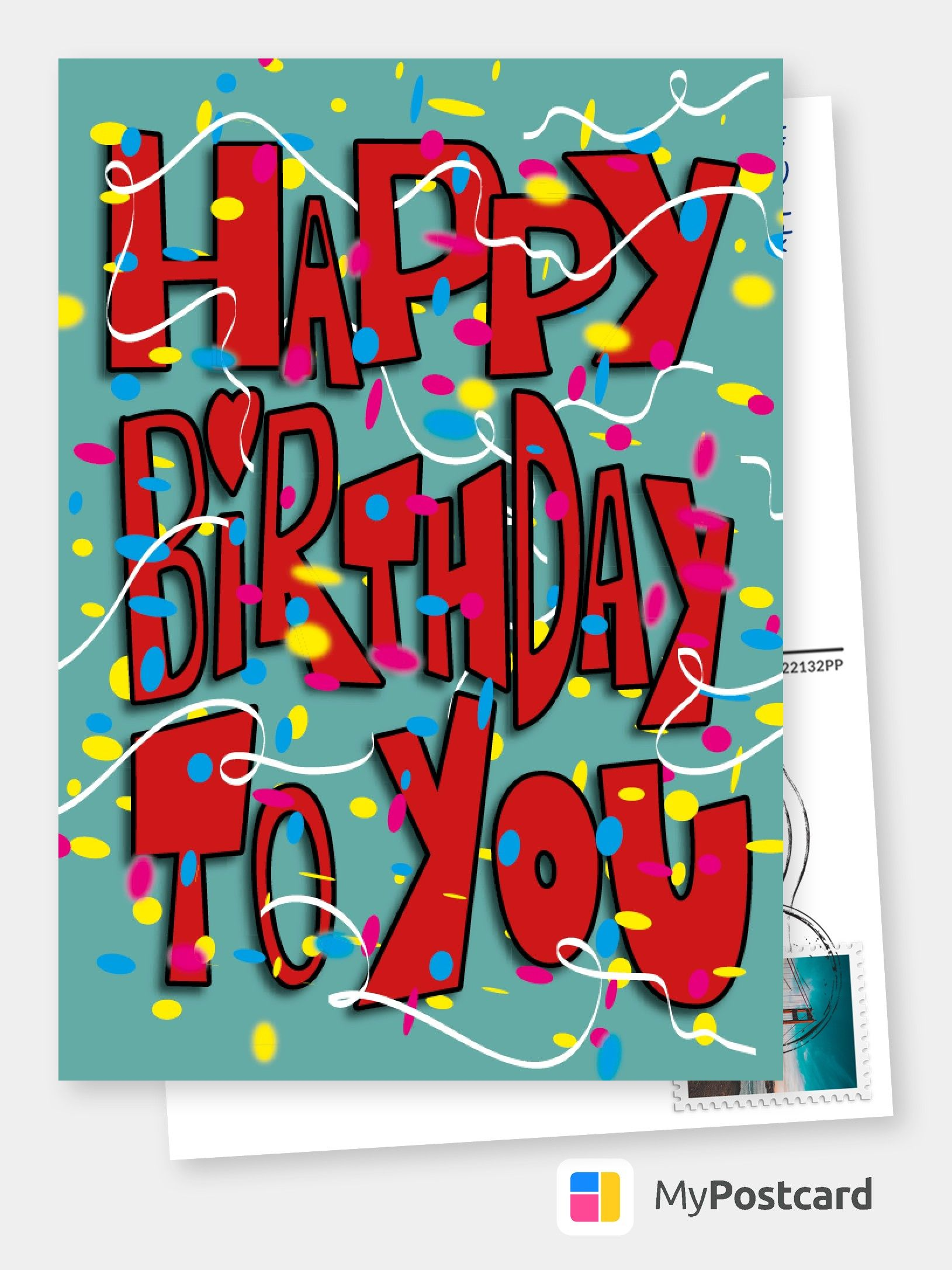 Personalized Birthday Cards Online Printed Mailede For You International Free Shipping Postage Delivery Photo Cards Postcards Greeting Cards Birthday Card Online Birthday Wishes Greeting Cards Happy Birthday Cards Online
