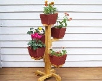 Outdoor Planter Stand Five pot flower stand indoor flower pot stand deck flower stand five pot flower stand indoor flower pot stand deck flower stand patio flower pot stand garden planter deck planter indoor wood planter workwithnaturefo
