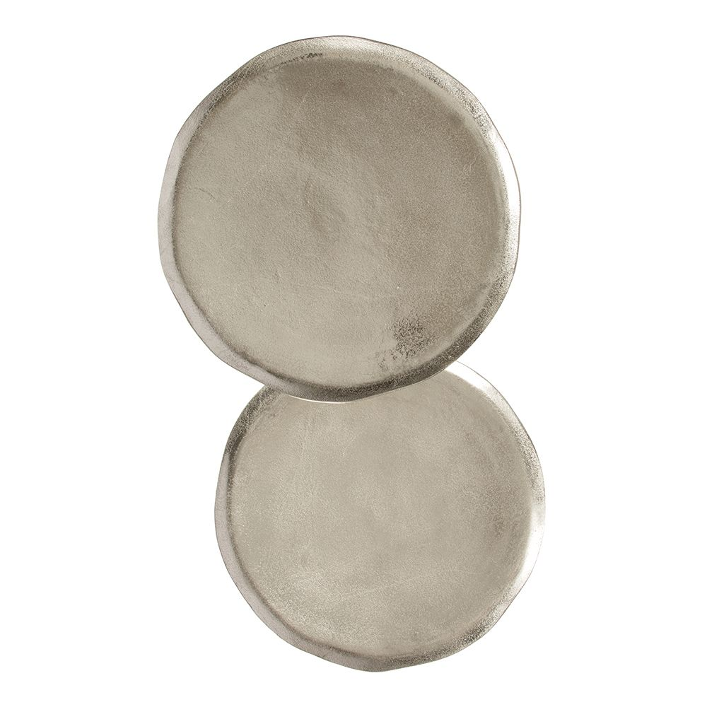 Side Tables | Set Of 2 | Nickel | 41x51cm by Contemporary Corners on Brands Exclusive