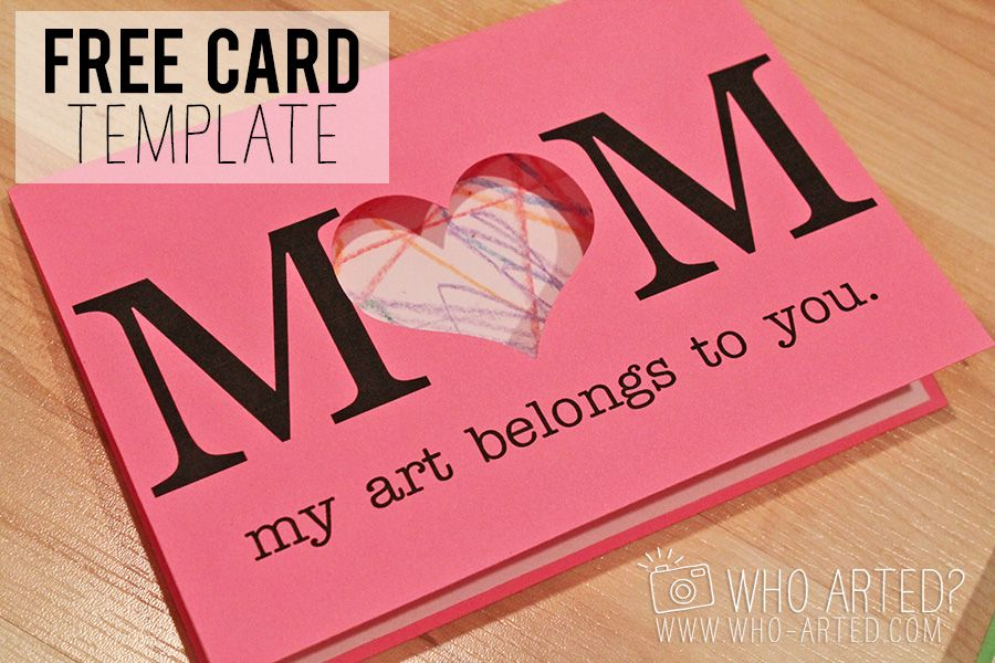 Mothers Day Card Who Arted 00 Gift Ideas Pinterest