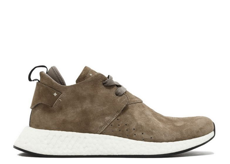 f7a0b2676670d Adidas NMD R2 Suede Sand Black White By9913 Genuine Shoe
