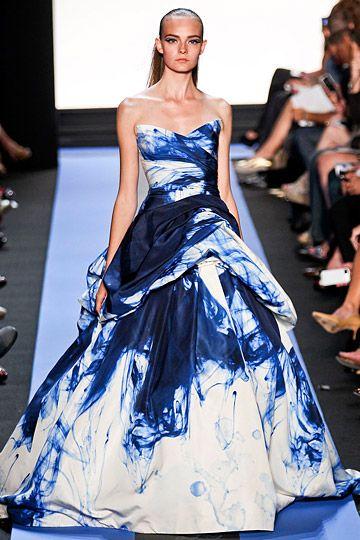 Monique Lhuillier Spring 2012.  Tie dye!