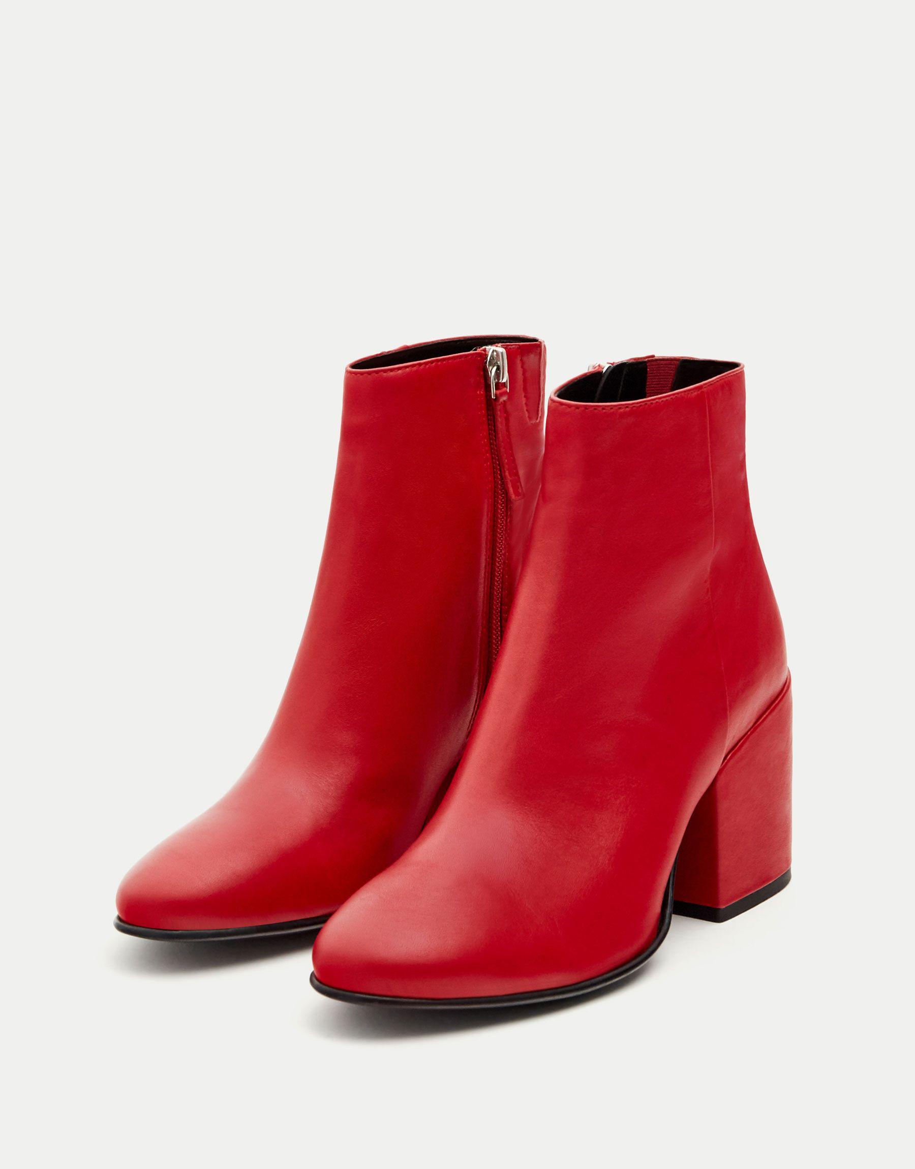 Cuir Chaussures Bottines À Talon Rouge Femme Bottine qUMVpGzS