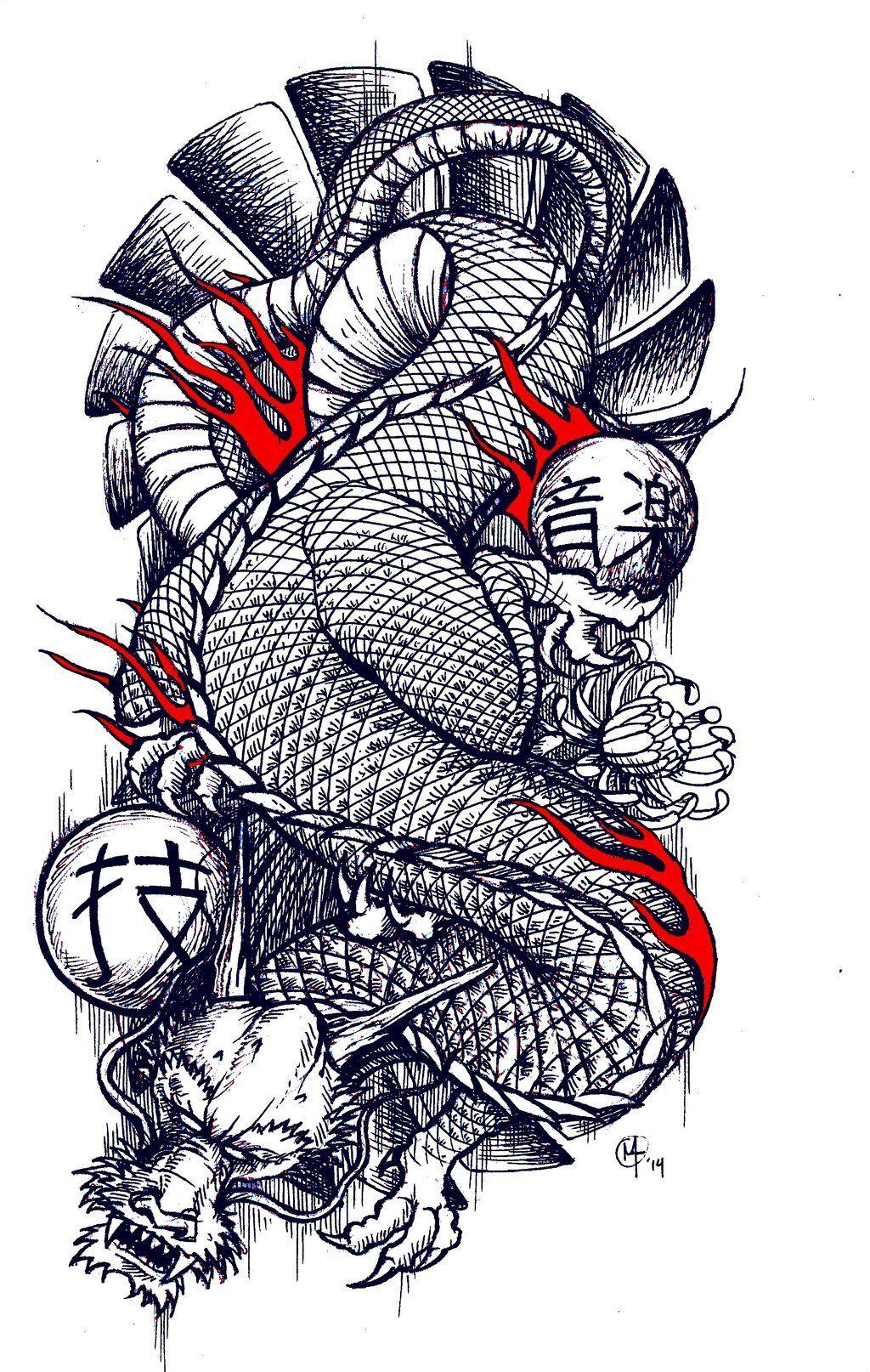 Traditional Japanese Dragon Tattoo Design By Miketooch Deviantart Com On Deviantart Japanese Dragon Tattoos Japanese Dragon Tattoo Dragon Tattoo Designs