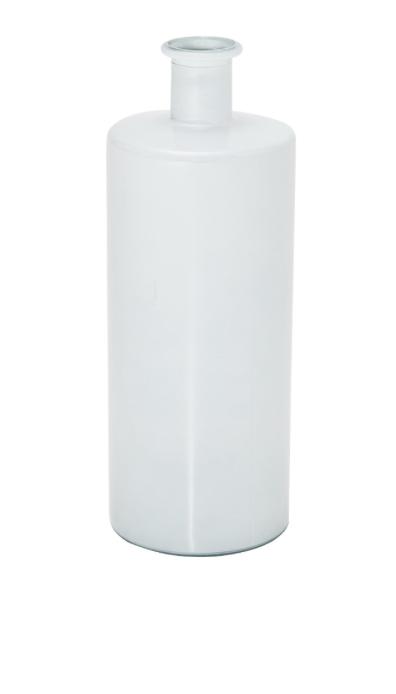 Jarrón de 40 cm en cristal reciclado color blanco