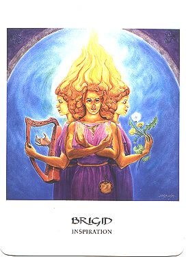 The Celtic Fire Goddess Brigid - 'adopted' by the Christian Church and has  morphed into St. Brigid of Ireland.