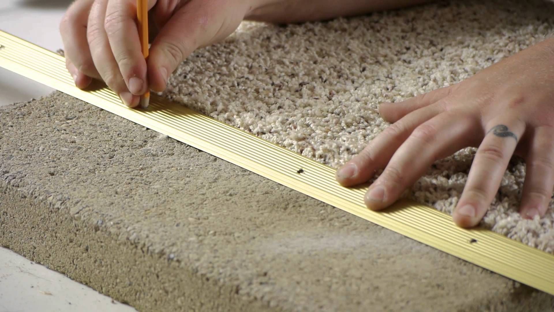 How To Install Carpet Transition Trim Between Concrete Flooring