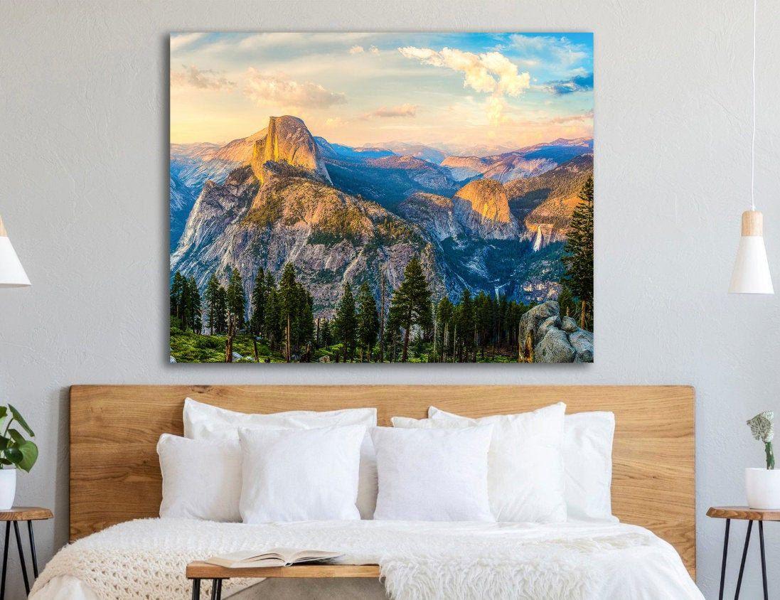 Large Yosemite Canvas Yosemite Print California Scenic Etsy Cheap Farmhouse Decor Rustic Home Interiors Rustic Remodel