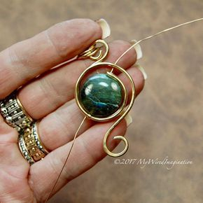 Wire wrapping tutorial eye of the hurricane wire wrap pendant eye of the hurricane wire wrap pendant tutorial new tutorial aloadofball Gallery