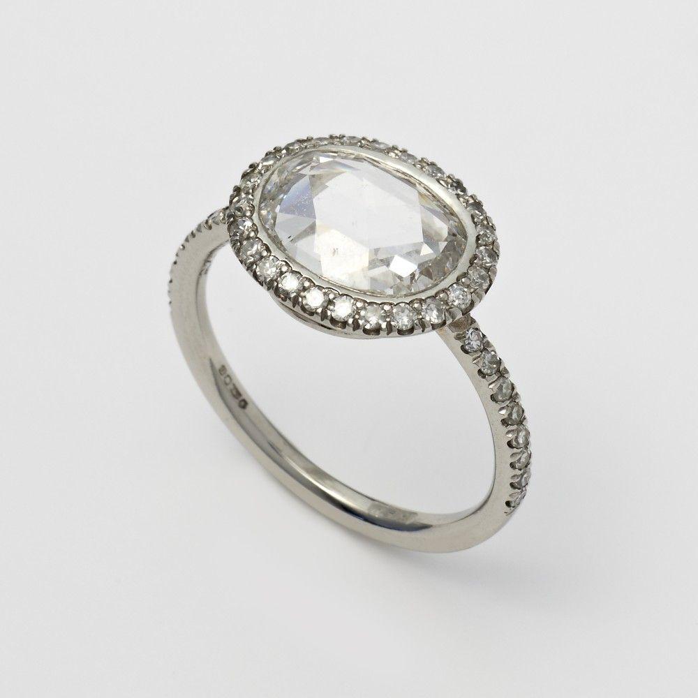 William Welstead Oval Rose Cut Diamond Ring