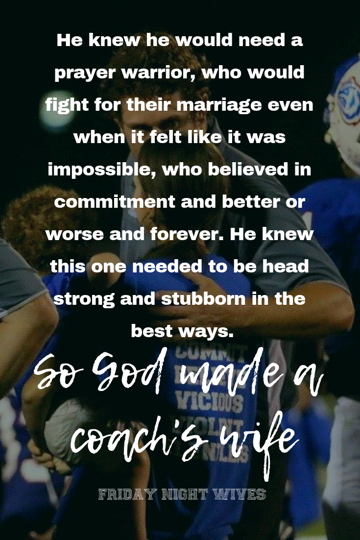 Being a football coachs wife