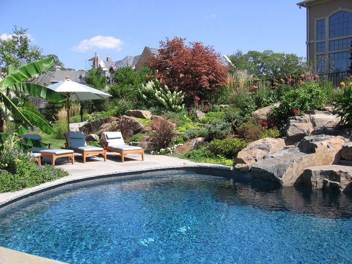 Backyard Pool Outdoor Landscape Design Swimming Pool Landscaping Pool Landscaping