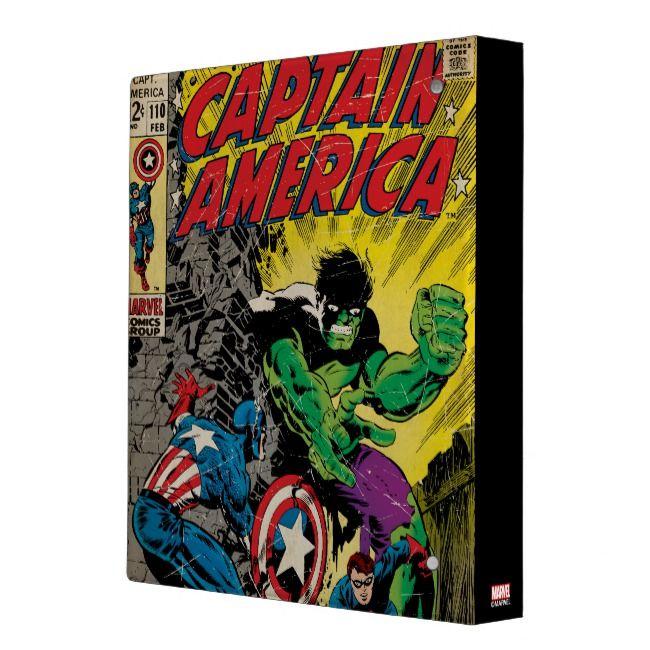 Captain America Comic #110 3 Ring Binder