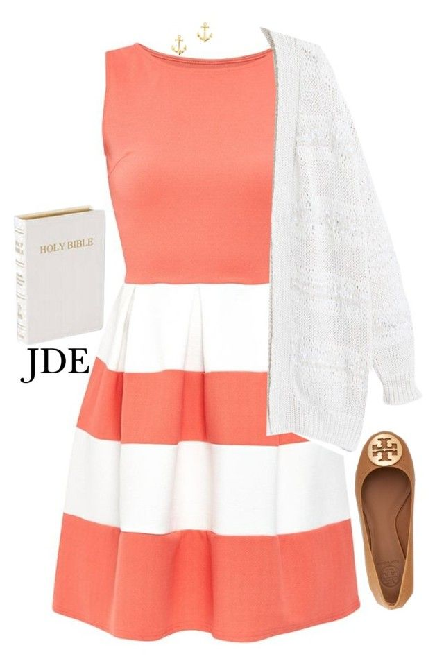 """""""Church then play practice!"""" by jane-dodge ❤ liked on Polyvore featuring moda, Cameo Rose, Violeta by Mango, Tory Burch, J.Crew, women's clothing, women, female, woman y misses"""