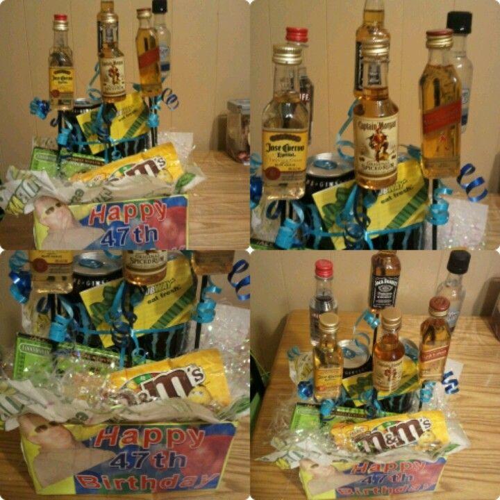 My 1st liquor bouquet for my boss.