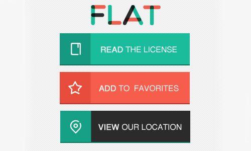 62 Flat PSD Files for Better UIUX Design | Flat Web Design | Pinterest