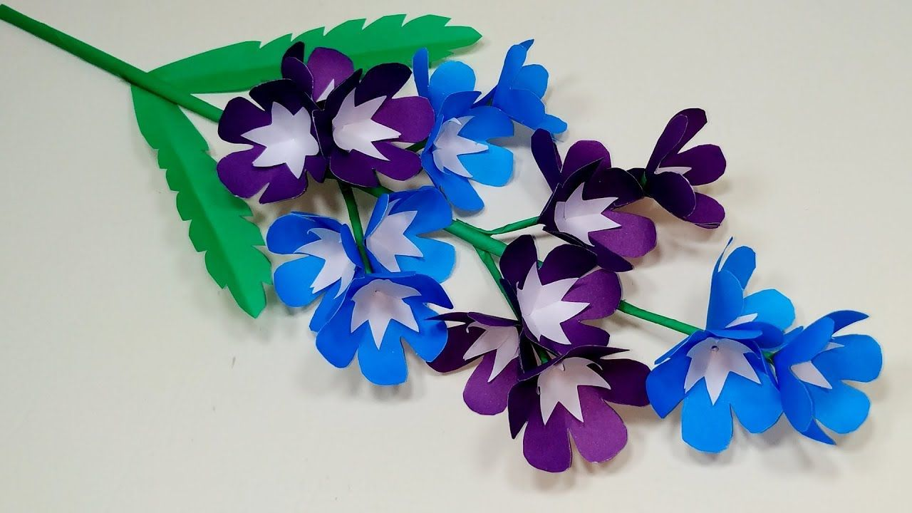 Flower With Paper Paper Stick Flower Making Beautiful Idea For