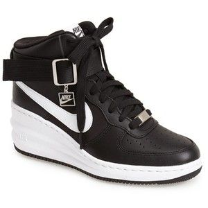 Elegant Womens Nike Force Sky High Black/Metallic Silver/Anthracite Design
