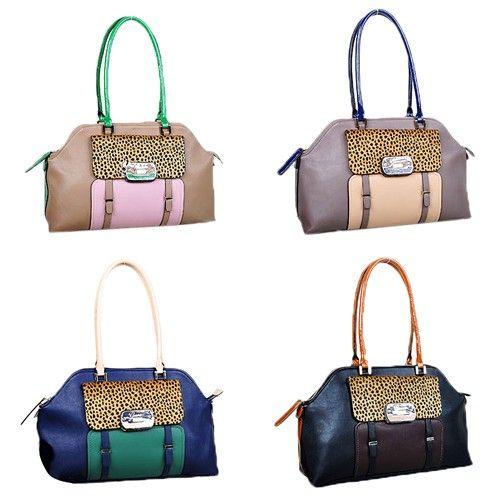 Guess Women Clerra Handbag Leopard Print Contrast Colour Bag Handbags Campaign Categories