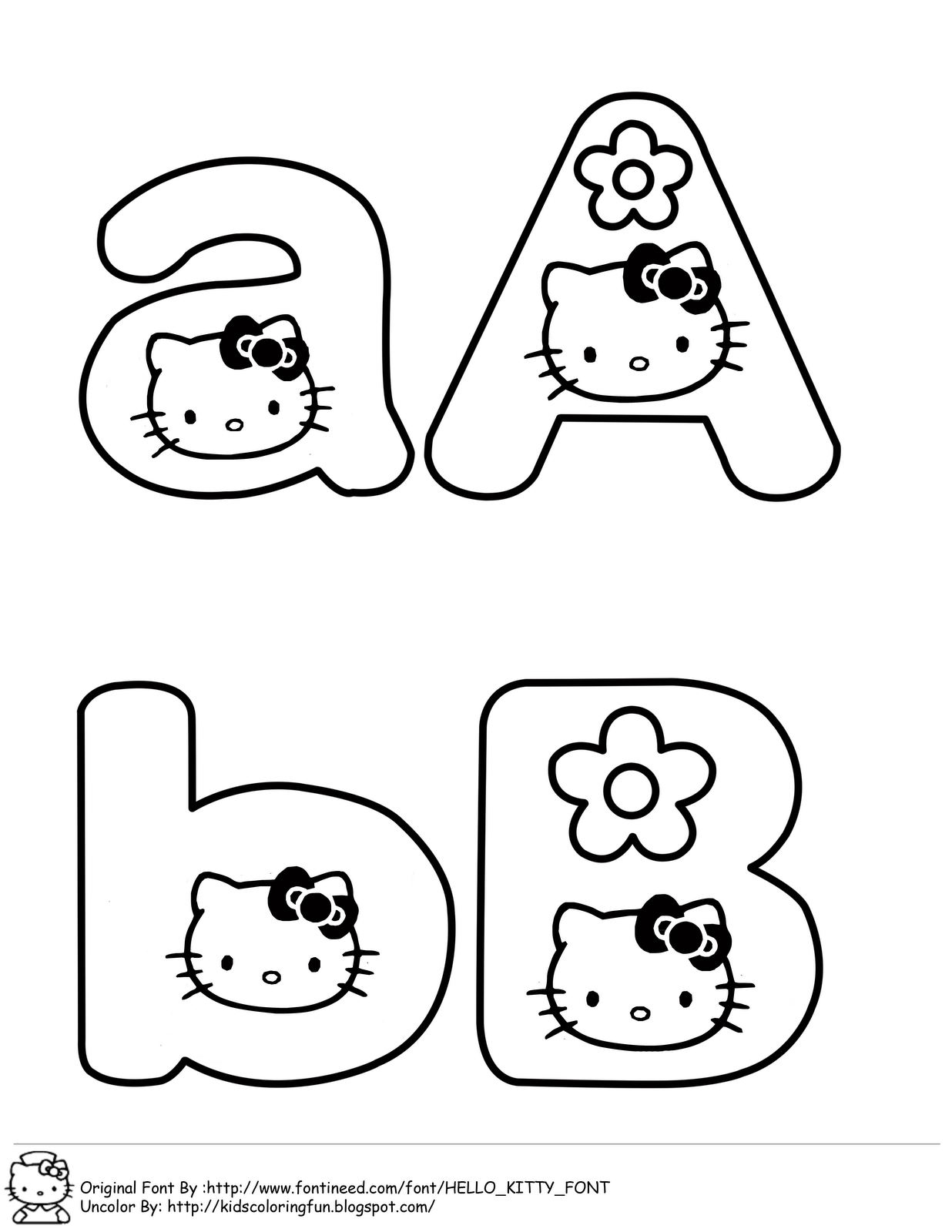 learning abc with hello kitty learn to coloring hello kitty