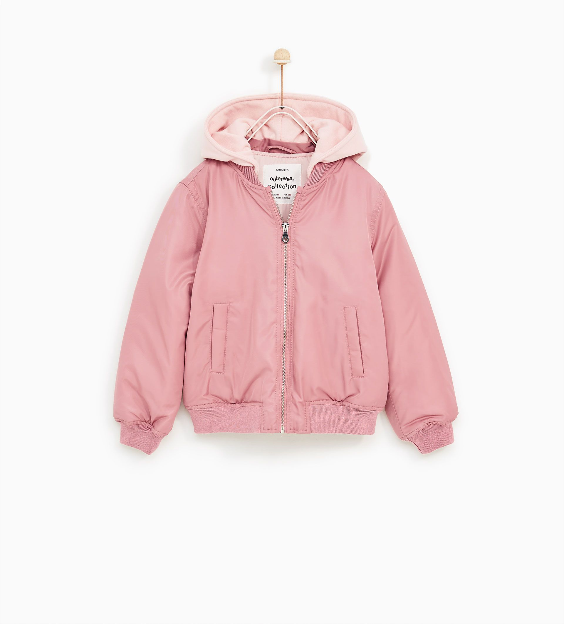 Contrast bomber jacket from Zara Jackets, Girl outfits