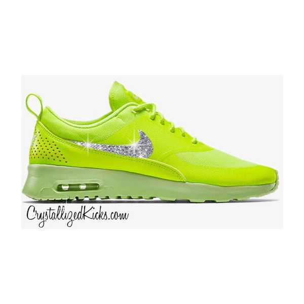 low priced 4ae40 27a47 Nike Air Max Thea Neon Made With Swarovski Crystals ( 169) ❤ liked on  Polyvore