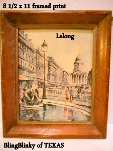 Madeleine Museum Print Art Edition LeLong Vintage Painting Wall Picture Fountain .. BlingBlinky.com