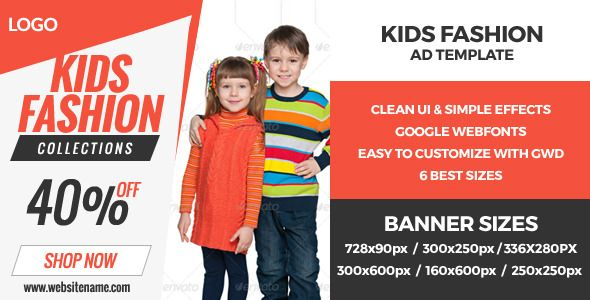 Kids World - GWD HTML5 Ad Banners . Kids World – GWD Ad Banners are designed with Google Web Designer. And provided 6 most frequently used sizes in the
