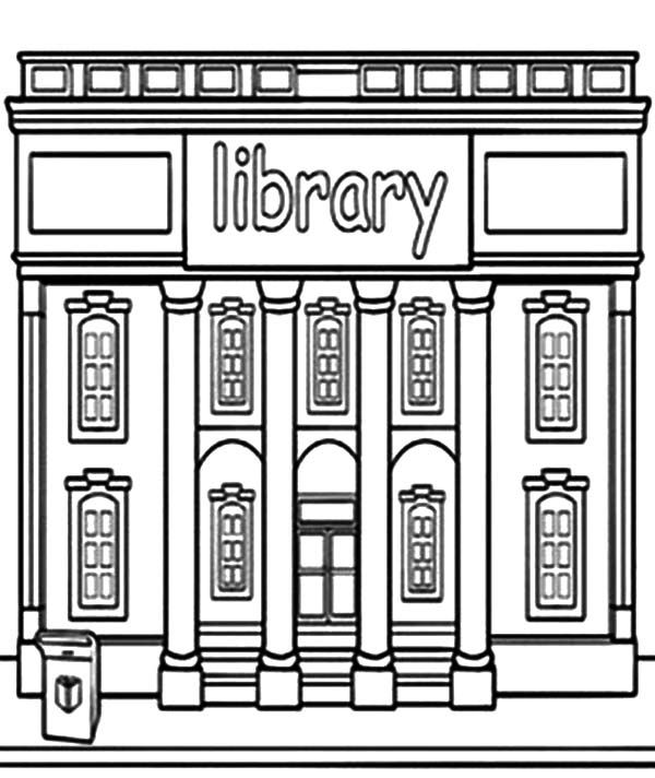 Library Building Coloring Pages Library Building Coloring Pages School Coloring Pages Coloring Pages For Teenagers Online Coloring Pages