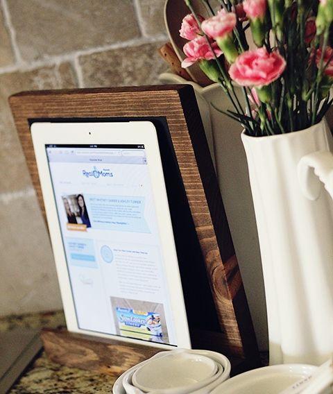 DIY recipe book or tablet holder!