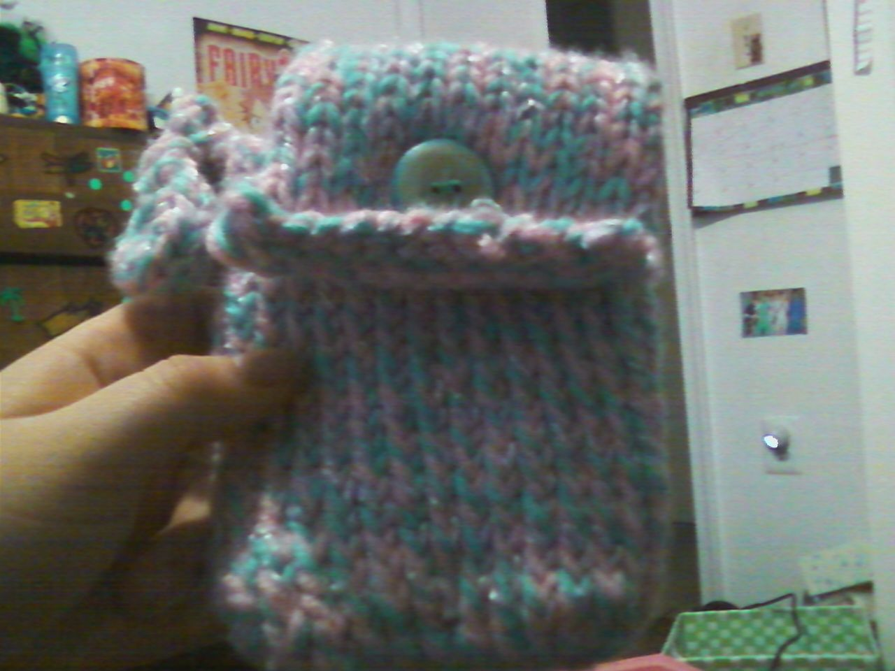 I made this cellphone holder for my friend! -Denise Walker
