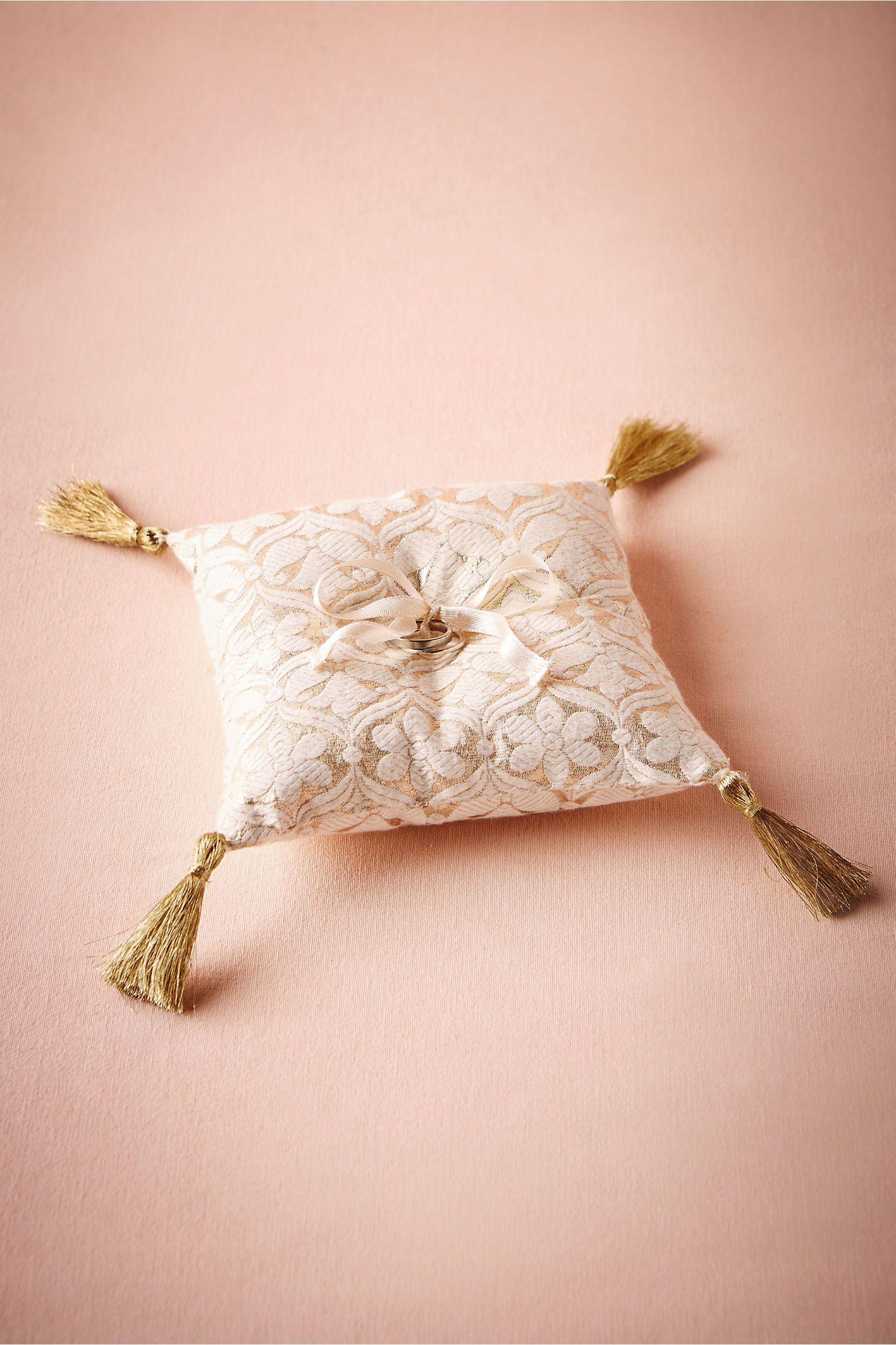 BHLDN\'s Brocade Ring Pillow in Gold   Ring pillows, Flower girl ...