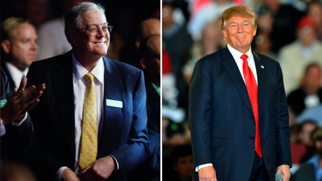 CRIMINALS.  TRAITORS.   DEVILS.   Trump chats with Koch brothers: report