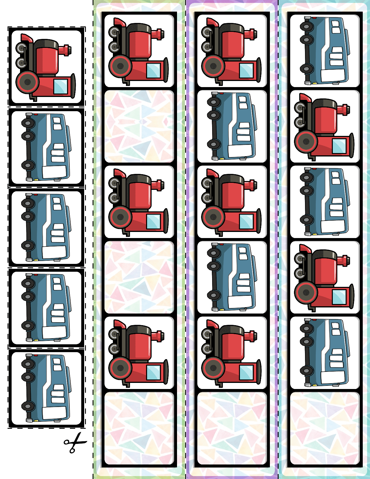 Transportation Vehicles Ab Pattern Cards