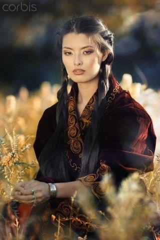 Kazakh girl on webcam
