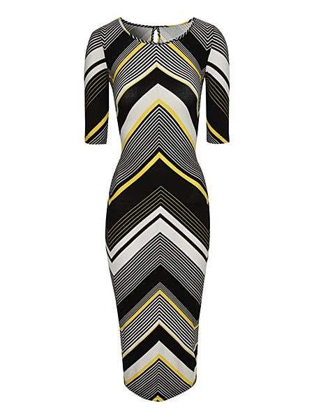 Chevron Stripe Midi Dress