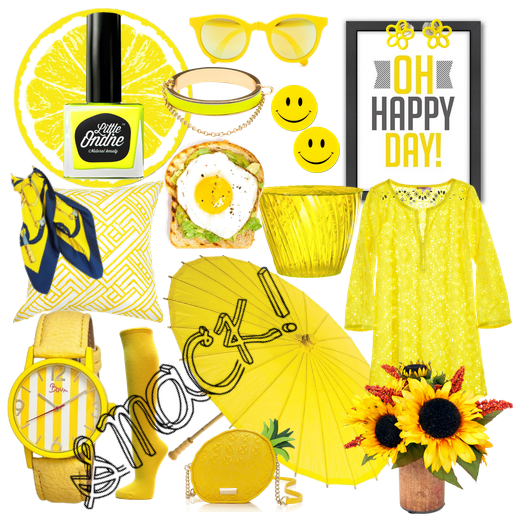 Today we're drawing inspiration from our Colour of the Week, Smack. Because we're determined to find all things bright and sunny even if the clouds won't go away!