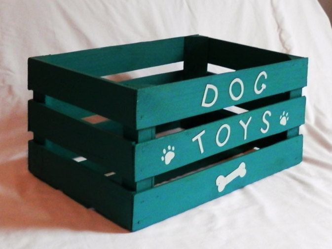 Dog Toy Boxwooden Cratedog Toy Storagetoy By Wattslakestudio With