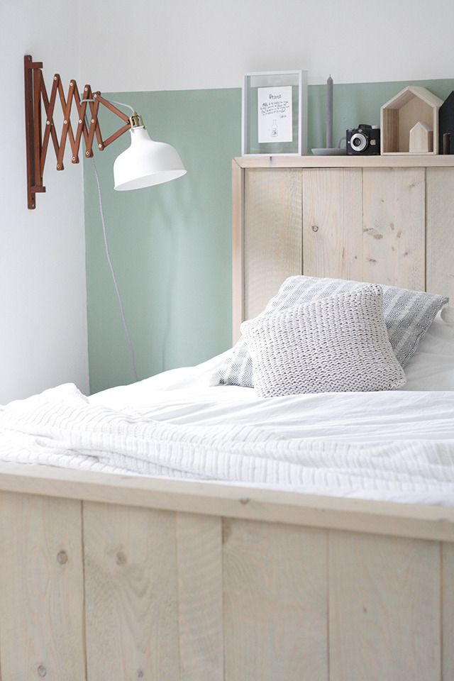 Flexa groen bedroom pinterest slaapkamer for Plank boven bed