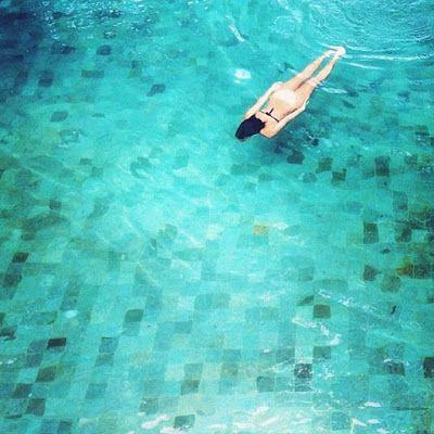 Slate Bottom Swimming Pool Bali Google Search Pool Tile Green Pool Pool