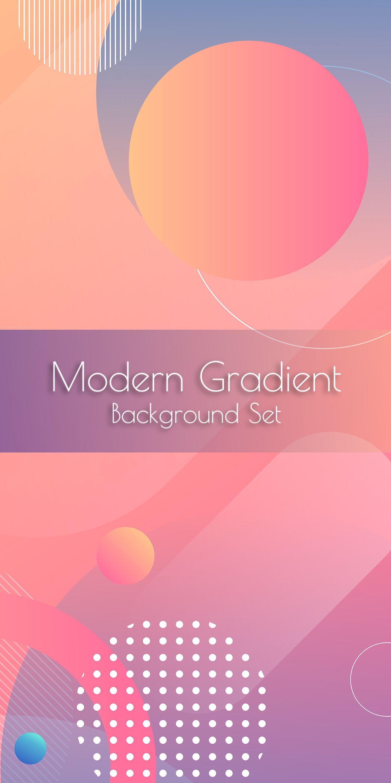 Modern Gradient Background Set In 2020 Creative Banners Gradient Background Web Design Resources