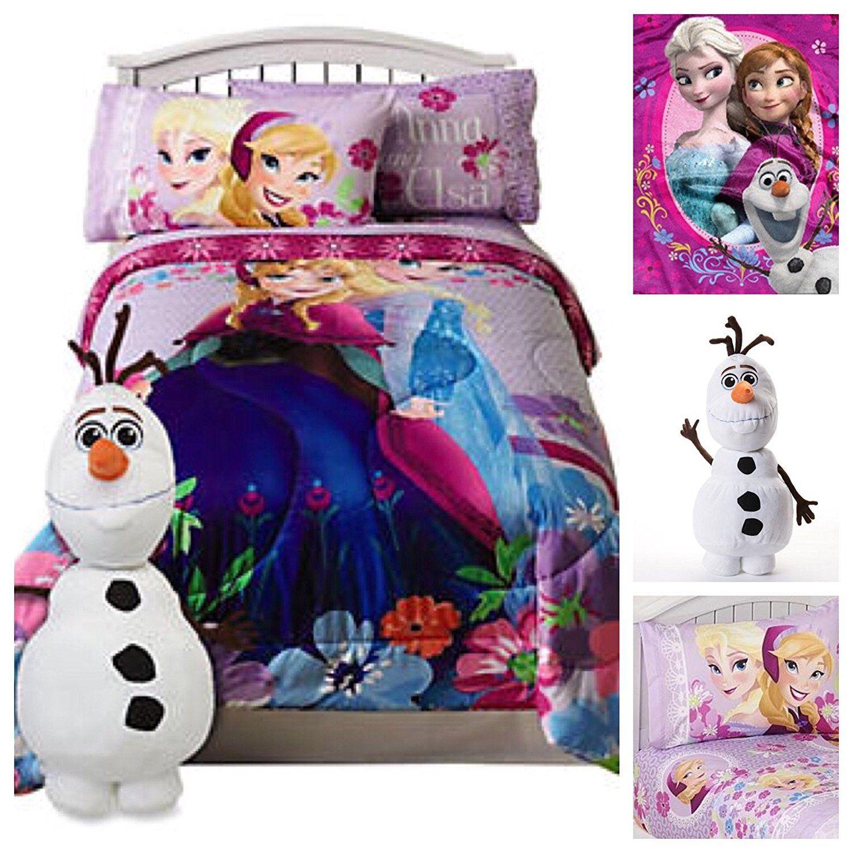 Disney Frozen Kids Twin Bed In A Bag Bedding Set Reversible