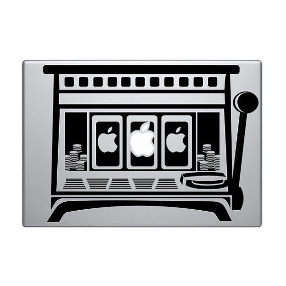 Slot Machine Vinyl Decal  Sticker To Fit Macbook Pro - Custom die cut stickers machine